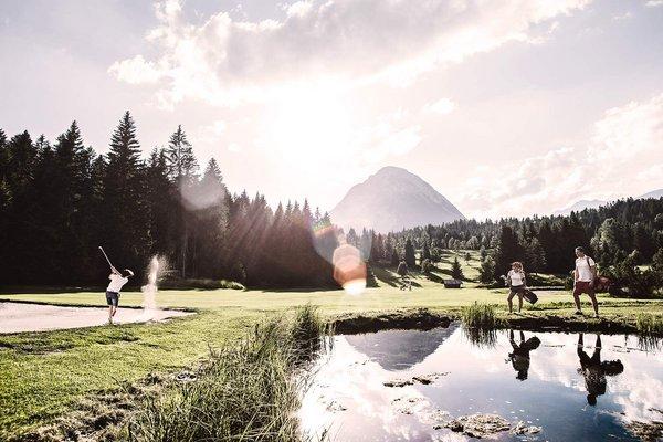 Campo da golf a Leutasch, nella regione di Seefeld