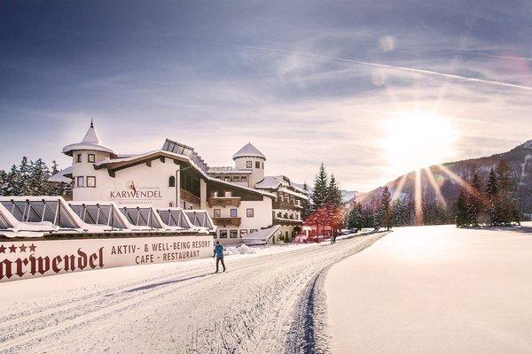 Hotel alpino Karwendel solo per adulti con un paesaggio invernale