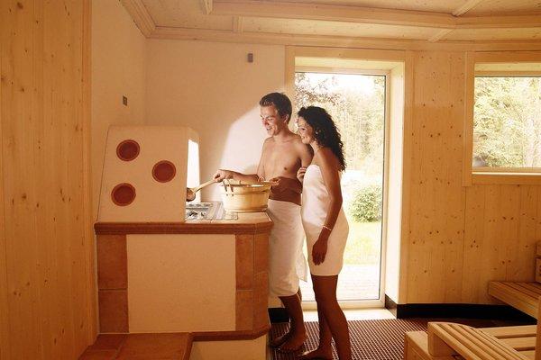 nella sauna dell´hotel a Leutasch Seefeld solo per adulti